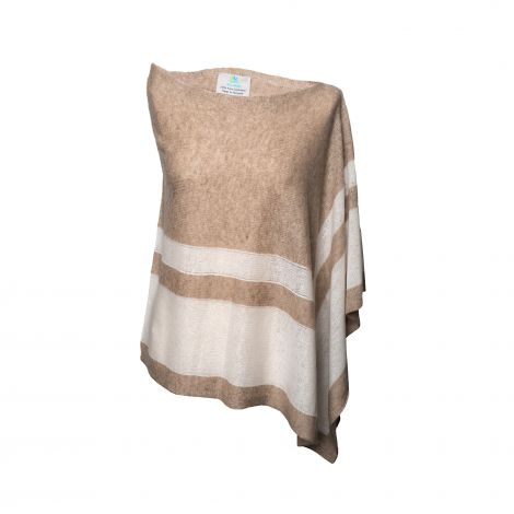 Lestere Organic Brown/Organic White Stripes Poncho