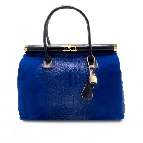 Lestere Sardegna Royal Blue Two Top Handle Handbag