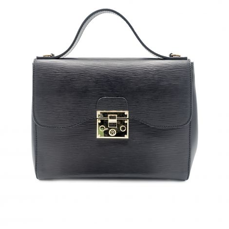 Lestere Calabria Black Top Handle Handbag