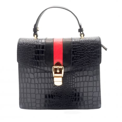 Lestere Romagna Black Top Handle Handbag